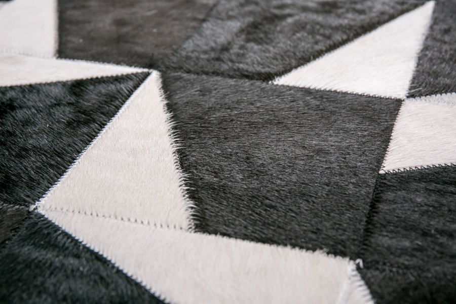 Kožni tepih Black Shards