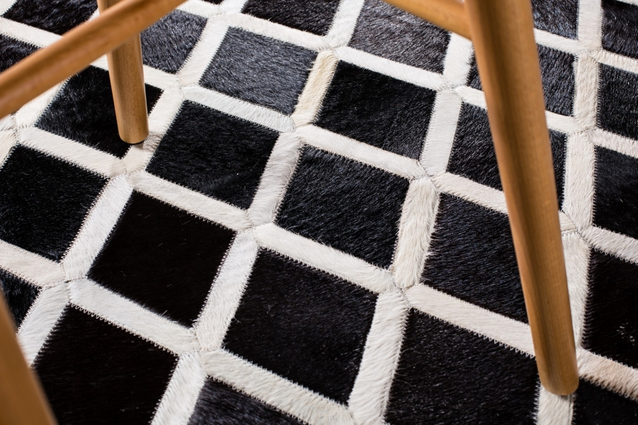 Kožni tepih Crosshatch