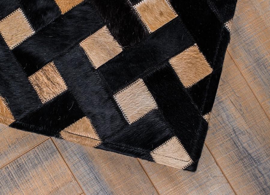 Kožni tepih Dark Weave