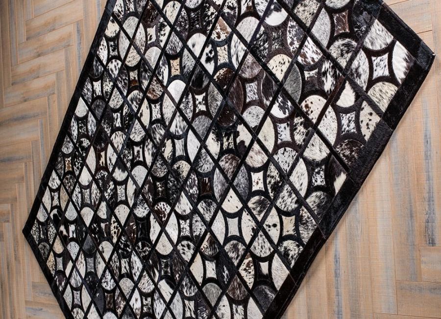 Kožni tepih Oracle Grey