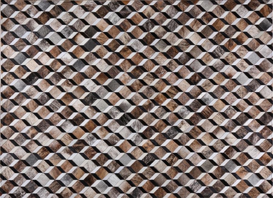 Kožni tepih Rubic Grey