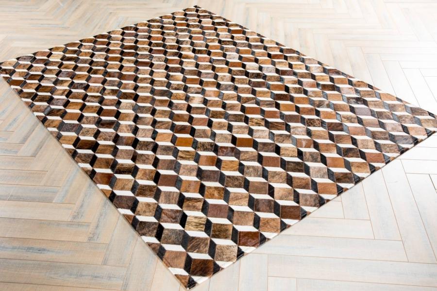 Kožni tepih Rubic Brown